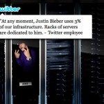 Justin Bieber Has Dedicated Servers at Twitter