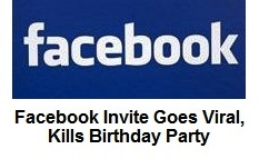 planning to create your birthday event on facebook, beware, it may, Party invitations