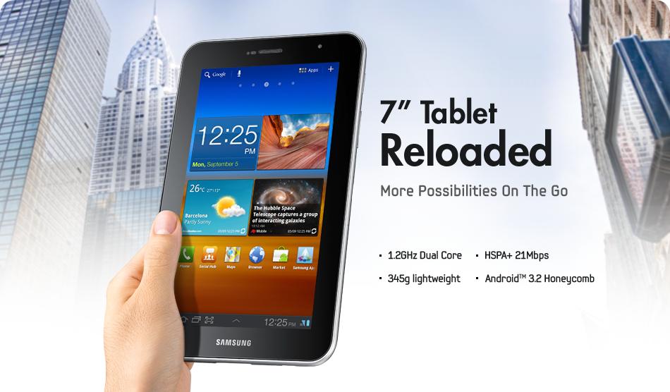 Samsung Galaxy Tab 7.0 Plus announced, Dual Core Exynos Processor running Honeycomb 3.2