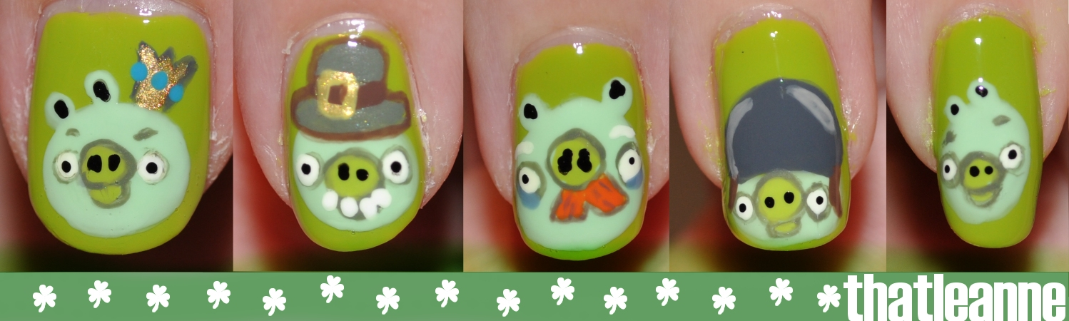 Angry Birds obsession continues, presenting Angry Birds Nail Art ...
