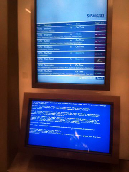 Hilariously Funny Places Where Bsod Blue Screen Of Death