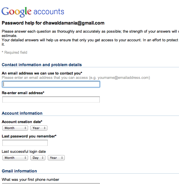 How to recover hacked GMail Accounts