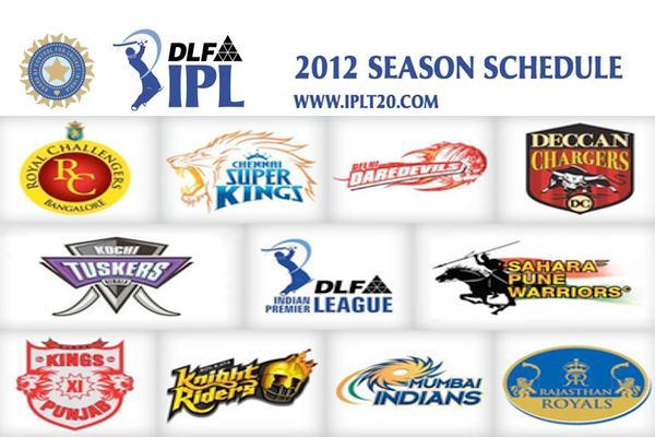 Updated: 15/03/2012] IPL 2012 Schedule, Fixtures and more