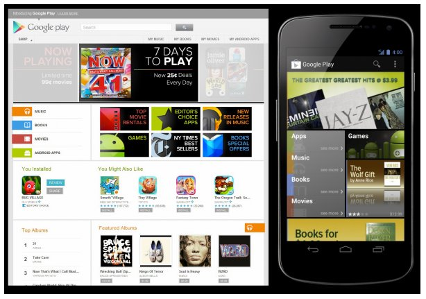 Google Play replaces Android Market unifies Games, Apps, Books, Movies and Music