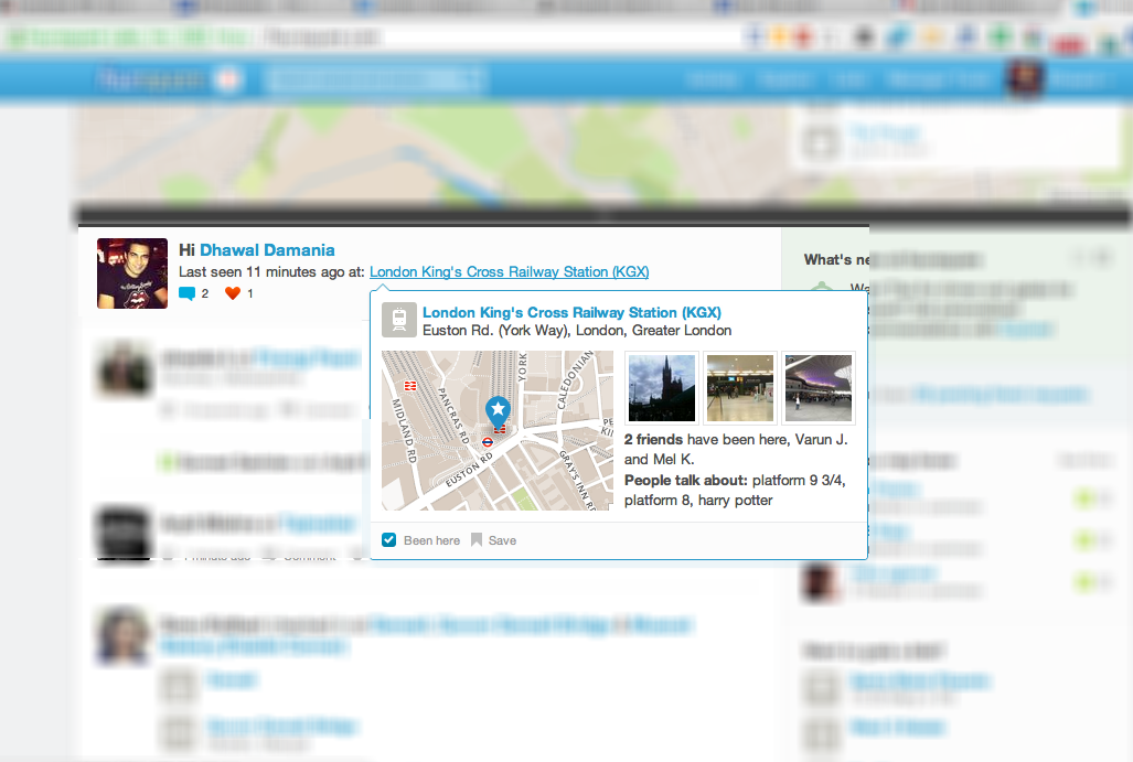 Foursquare going Facebook way rather thedinfographics.com way, Love, like, unlike