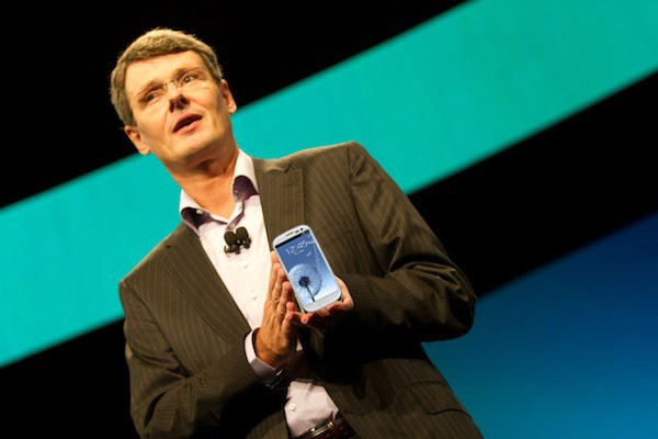 Blackberry CEO uses an Android powered Samsung Galaxy S3