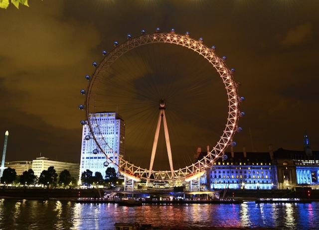 Tweets powered Light show on the London Eye based on the positivity towards Olympics