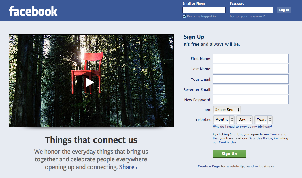 facebook login we