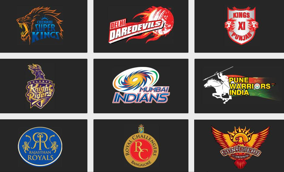 Pepsi ipl 6 teams logos 2013