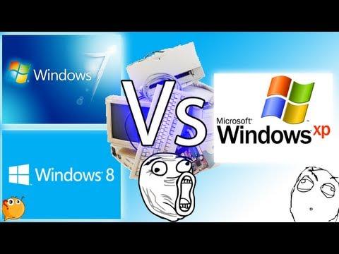 Windows 7 v/s Windows 8 v/s Windows XP