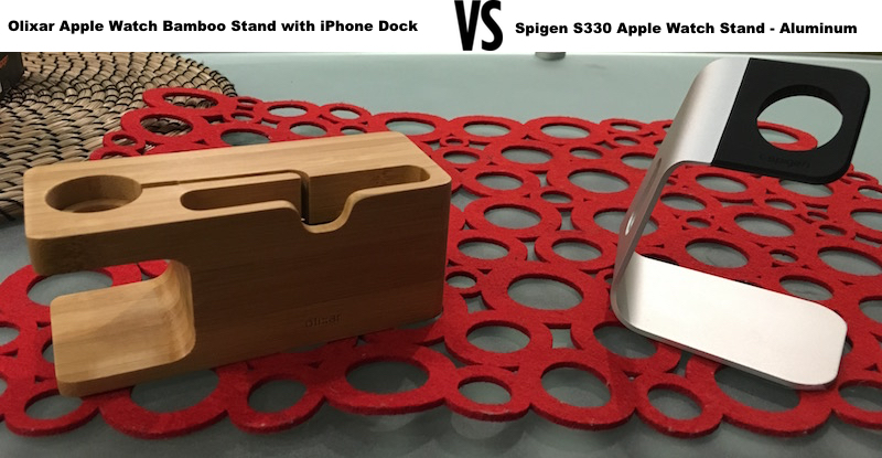 apple-watch-stand-olixar-spigen-compare