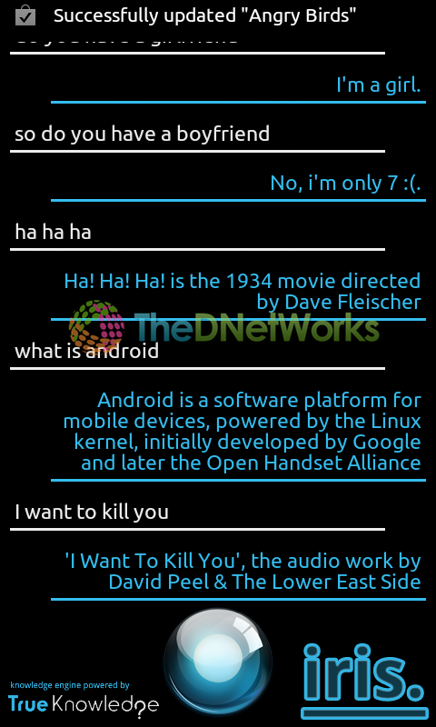 Android developer creates Siri for Android with a sense of humour in 8 hours, calls it Iris