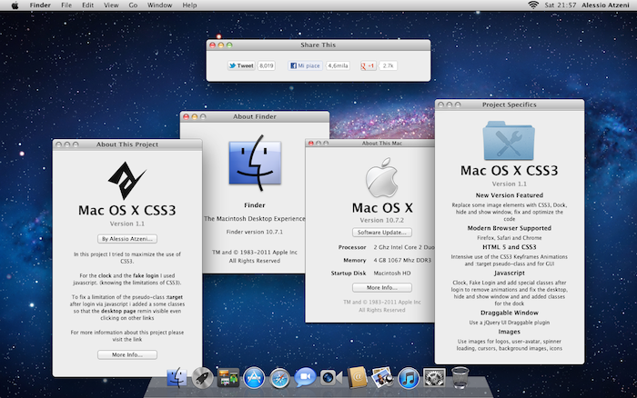 Mac OS X Lion on a web browser, Online; without any setup, try the Mac OS on any browser