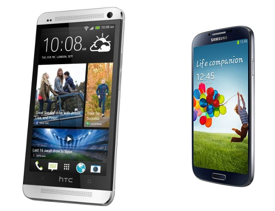 Battle of two stiff competitors – Samsung Galaxy S4 and HTC One